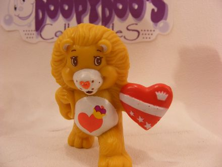 VINTAGE BRAVEHEART LION CARE BEARS COUSIN MINIATURE